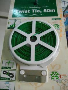 ลวดเขียว Twist Tie ยาว 50ม.