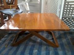 โต๊ะญี่ปุ่น (พับได้) ทำจากไม้สัก ทรง สี่เหลี่ยม