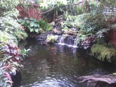 รับจัดสวน น้ำตก น้ำพุ ปูพื้นไม้ระแนง