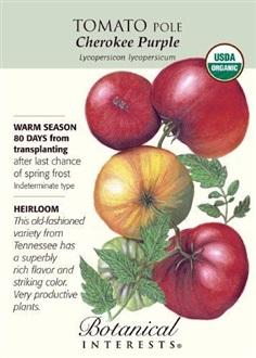 เมล็ดพันธุ์มะเขือเทศออร์แกนิค-Organic Tomato Pole Cherokee Purple