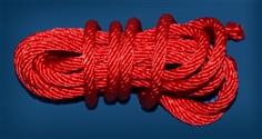 เชือกถักไม่มีไส้ สีแดง เอนกประสงค์