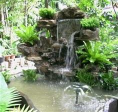 น้ำตกจำลอง น้ำตกในสวน ขนาดกลาง