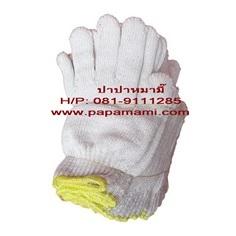 ถุงมือผ้าสีขาว 7 ขีด (ขอบเหลือง) จำนวน 1 โหล