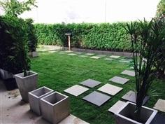รับจัดสวน ออกแบบ ปูหญ้า