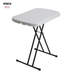 โต๊ะพับ ขนาดเล็กปรับ 3 ระดับ ( สีขาว )