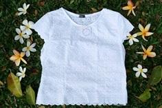 เสื้อผ้าฝ้ายปักลูกไม้สีขาว รุ่นกาสะลองคำ