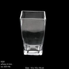 แจกันแก้วสี่เหลี่ยม