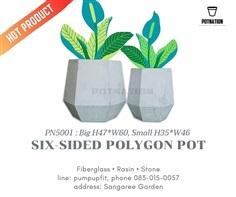กระถาง6เหลี่ยม/ Product code : PN5001.