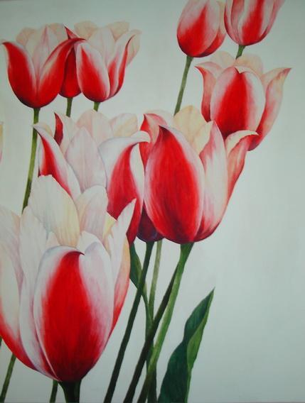 ภาพเขียนดอกทิวลิป