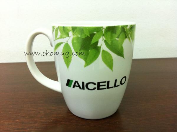 แก้วเซรามิกสกรีนลาย Aicello