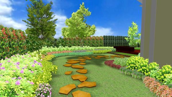 รับเขียนแบบสวน  Autocad ,Sketup, 3D