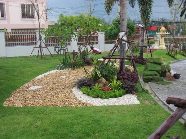 จัดสวนหินและไม้ดอกไม้ประดับที่ ระยอง