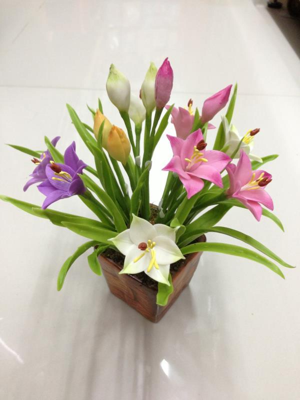 บัวดิน ดอกไม้ประดิษฐ์จากดินไทย