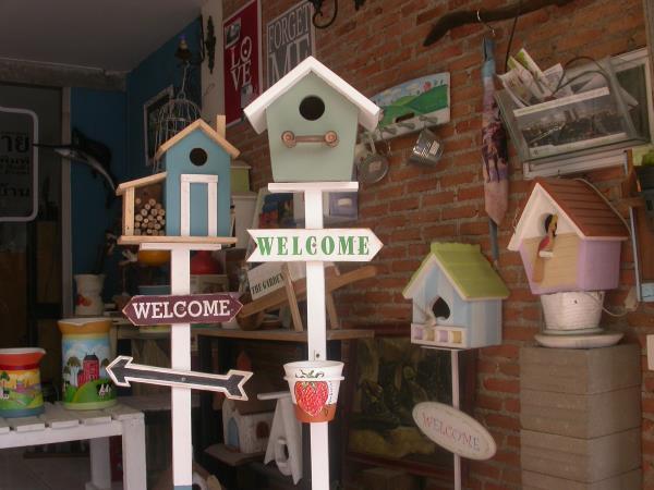 บ้านนกแต่งสวน,บ้านนก,ของแต่งบ้าน,แต่งสวน,ของแต่งบ้านสไตล์วินเท็จ,งานเพนท์,บ้านนก