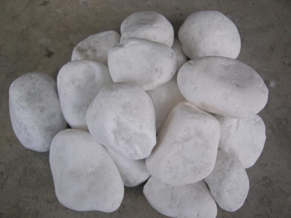 กรวดขาวพิเศษ ( บาหลี )  ขนาด 3-5 Cm.