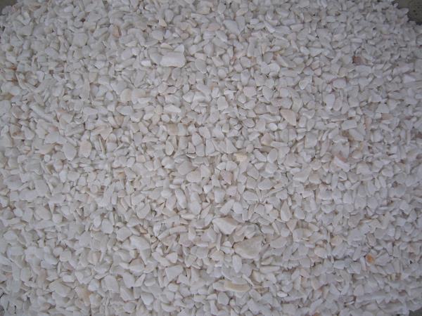 หินกรวดสีขาวพิเศษเม็ดเล็กปานกลาง
