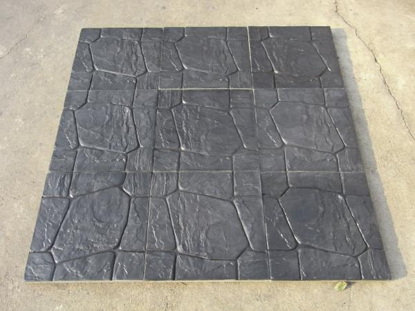 แผ่นทางเดิน ลายหิน (สีดำ)