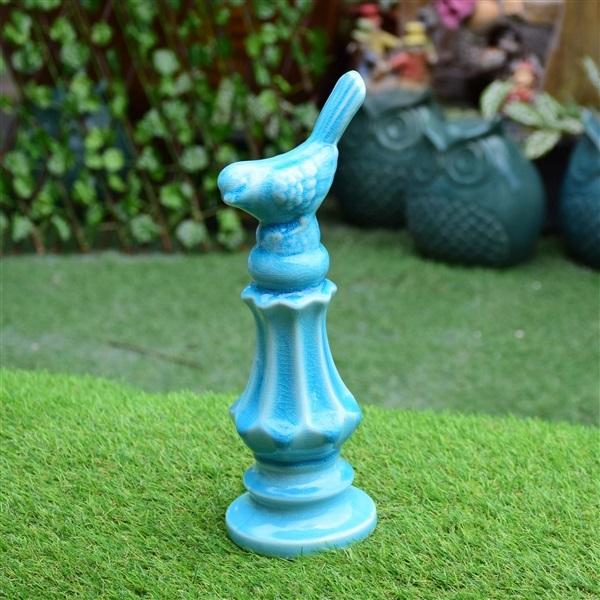 ฐานนกเซรามิคสีฟ้าใหญ่ (8-8704)