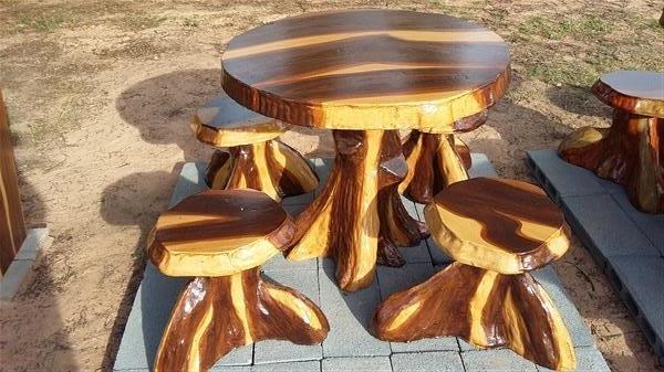 โต๊ะปูนลายไม้,,โต๊ะสนาม
