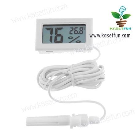 เครื่องวัดอุณหภูมิและความชื้นแบบดิจิตอล(มีสาย)