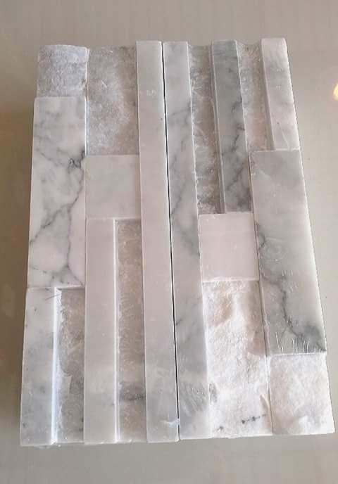 หินจิ๊กซอหินอ่อนขาวเทาสระบุรี10*30