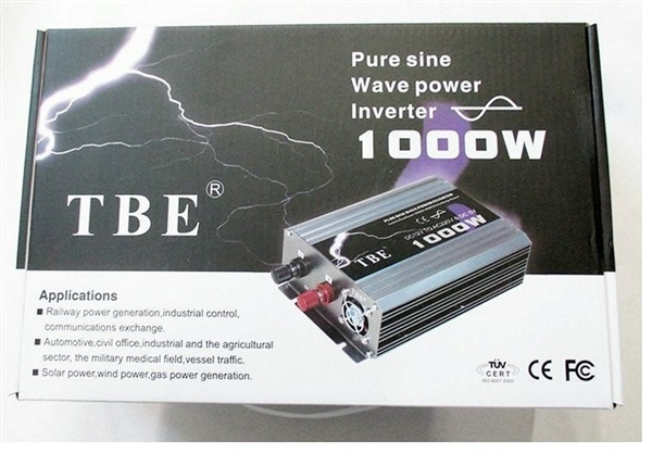 TBE inverter pure sine wave power inverter 1000w 12V ,,เครื่องปั่นไฟ