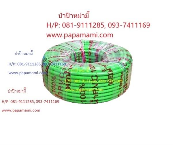 สายยางสีเขียว 2ชั้น(ในสีดำ) PVC เคลือบ UV 6หุนx100เมตรx2.75