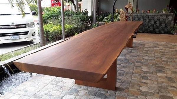 โต๊ะไม้เต็งแผ่นใหญ่