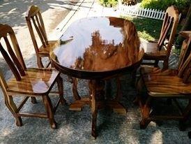 เก้าอี้ไม้-งานไม้จริง