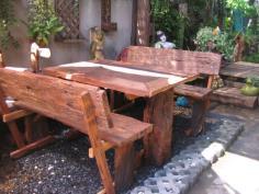 โต๊ะสนามไม้เก่าขนาด80x120