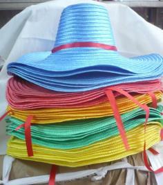 หมวกพลาสติก หญิง 5สี