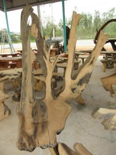 โต๊ะรากไม้