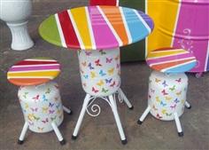 เก้าอี้สนามถังน้ำยาแอร์ R22 เพ้นท์สีสวย