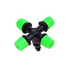 (374-SN4)หัวพ่นหมอก 4 ทาง เสียบท่อ PE (สีเขียว)