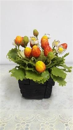 สตรอเบอรี่ ใหญ่  ดอกไม้ประดิษฐ์จากดินญี่ปุ่น