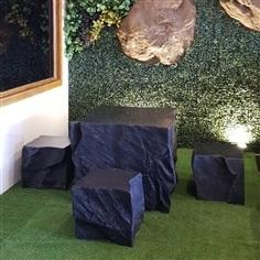 ชุดโต๊ะนั่งหินเทียม Square Collection ไซส์ L