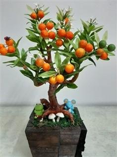 ต้นส้ม ทำจากดินไทย