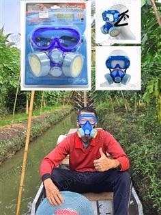 ส่งฟรี หน้ากากป้องกันละอองเคมี ฉีดพ่นยาฆ่าแมลง YAMADA ของแท้